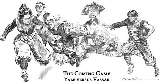 Charles Dana Gibson Illustration: The Coming Game